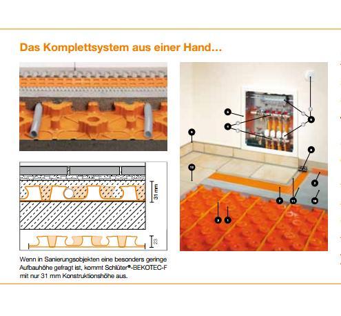 fu bodenheizung heizung installation mertes belgien. Black Bedroom Furniture Sets. Home Design Ideas
